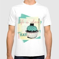 Cupcake Mens Fitted Tee White SMALL