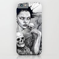 Skull Girl Nouveau iPhone 6 Slim Case
