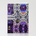 Cubistic 3-d Futuristic Town Stationery Cards