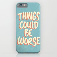 iPhone & iPod Case featuring Things could be worse by Phil Jones