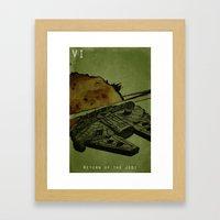 Return Framed Art Print