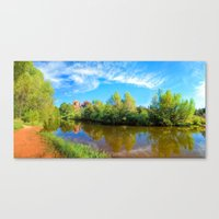 Red Rock Crossing Panora… Canvas Print