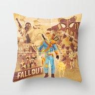 FALLOUT FAN ART Throw Pillow