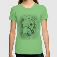 Pale White Horse Womens Fitted Tee Grass SMALL