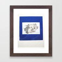 des Königs Blau Framed Art Print