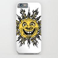 sun face - original yellow iPhone 6 Slim Case