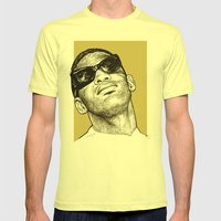 Ray Charles Mens Fitted Tee Lemon SMALL