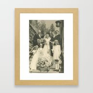 Vintage Wedding Photo 19… Framed Art Print