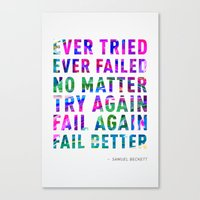 Fail Better Canvas Print