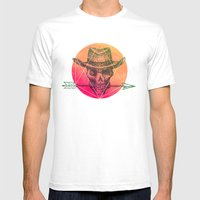 Dead Sheriff Mens Fitted Tee White SMALL
