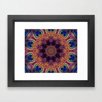 Peacock Fan Star Abstrac… Framed Art Print