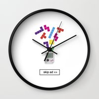 Game Ad Wall Clock