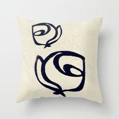 Flowers, Mother-Daughter Tan Throw Pillow