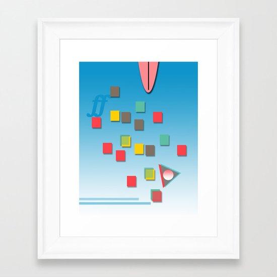 Surƒƒing Framed Art Print