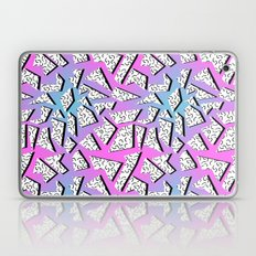 Gnarly - retro memphis throwback pattern print 1980s 80's style minimal modern pop art neon hipster Laptop & iPad Skin