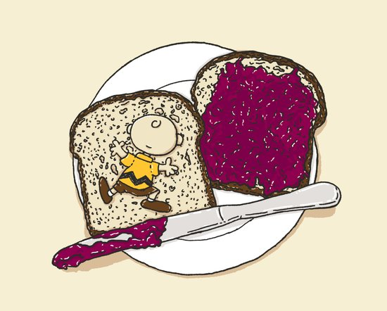 Peanut butter & Jelly Art Print