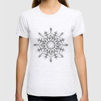 Dotwork mandala Womens Fitted Tee Ash Grey SMALL
