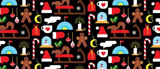 Gingerbread & Snow Globes Art Print