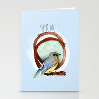 Spring birdy / Nr. 2 Stationery Cards