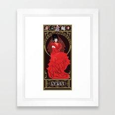 Lydia Nouveau - Beetlejuice Framed Art Print