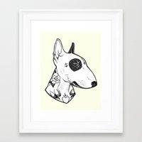 Bull Terrier Dog Tattooe… Framed Art Print