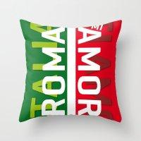 Roma Mi Amor. Italia Italy Poster iPhone 4 5 6, ipod, ipad case Samsung Galaxy Throw Pillow