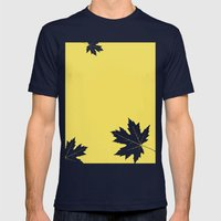 Simly falling Mens Fitted Tee Navy SMALL
