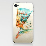 iPhone & iPod Skin featuring Nefertiti by Alice X. Zhang