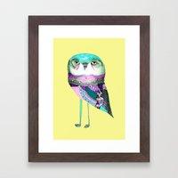 Owl Print Framed Art Print
