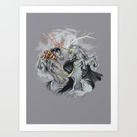 Retold with Unicorns II Art Print