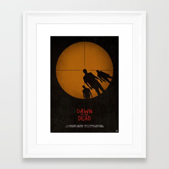 Dawn of the Dead Framed Art Print