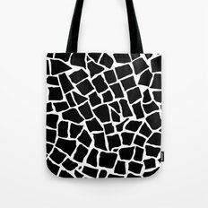 Mosaic Zoom Black and White Tote Bag