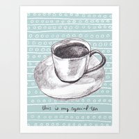 My Special Tea Art Print