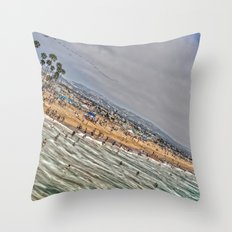 Beach Painting. Throw Pillow