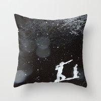 Winter Golfing Throw Pillow
