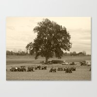 The Tractors And The Tre… Canvas Print