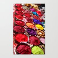 Indian powders Canvas Print