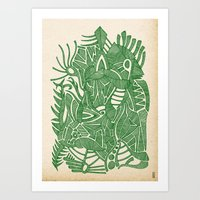 - green hope - Art Print