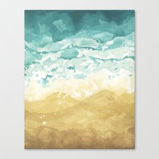Minimalist Shore - Beach Painting Canvas Print