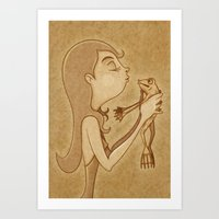 Beso3 Art Print