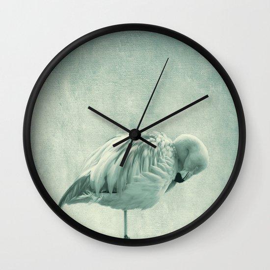Flamingo Blues Wall Clock