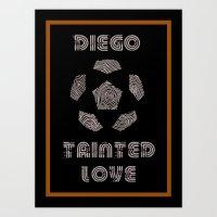 Diego Maradona - Tainted… Art Print