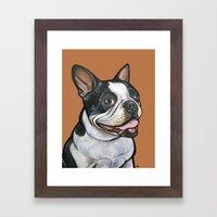 Snoopy The Boston Terrie… Framed Art Print
