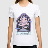 Long Lines Block the Path to Enlightenment Womens Fitted Tee Ash Grey SMALL