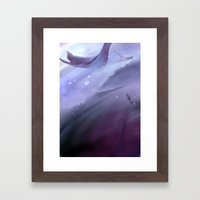 Drop In A Purple Ocean Framed Art Print