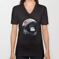 Astro Chimp Unisex V-Neck