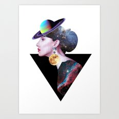 Lady from Outer Space Art Print