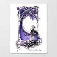 A Midsummer Night's Dream - Puck and Titania - Shakespeare Illustration Art Canvas Print
