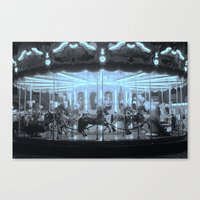 Merry-Go-Round And Round Canvas Print