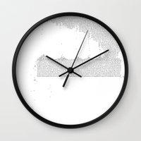 Erosion & Typography 3 Wall Clock